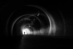 ...spirality²... (*ines_maria) Tags: panasonicgh5 zizkov spiral gh panasonic view melancholic dog woman monochrome blackandwhite light urban art silhoutte tube prag prague žižkov tunnel dcgh5