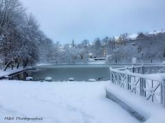 Schutzteich Annaberg-Buchholz (M&K Photographie) Tags: iphone schutzteich annabergbuchholz erzgebirge wasser winter mkphotographie