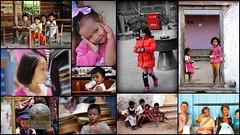 Enfants d'Asie (Thierry LARERE) Tags: asie portrait scènedevie photomontage enfant fille garçon école cloche holi biberon mosaïque