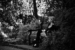 Waiting (Bury Gardener) Tags: burystedmunds bw blackandwhite britain monochrome mono england eastanglia uk suffolk streetphotography street streetcandids snaps strangers candid candids people peoplewatching folks 2018 nikond7200 nikon abbeygardens
