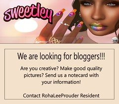 Bloggers Needed (Sweetley SL) Tags: sl secondlife blog blogger needed wanted sweetley catwa maitreya nailpolish lipstick eyeliner tattoo eyeshadow eyelashes original