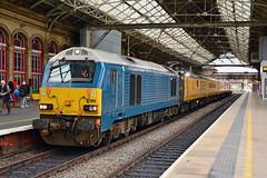 67002 1Q18 Preston (British Rail 1980s and 1990s) Tags: train rail railway loco locomotive lmr londonmidlandregion mainline wcml westcoastmainline livery liveried traction diesel station lancs lancashire preston