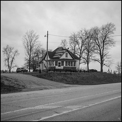 American Shingles (argentography) Tags: flad starsandstripes monticello indiana 26 midwest rolleiflex 622 ilford hp5