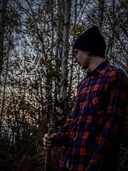 Lumberjack. (Manuel Vitulo) Tags: wild autumn woods mountainbiking freeride mtb trailbuilding trailbuilder lumberjack