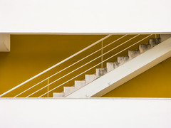 '10 Steps' (Canadapt) Tags: building stairs railing inside inner graphic wall yellow white loures portugal canadapt