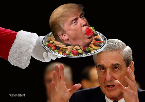 Bob Mueller's dream wish to Santa at Christmastime (says the maker of the image):  We hope that's it.  But we will find out for sure only if Mueller testifies before Congress (and maybe not even then).
