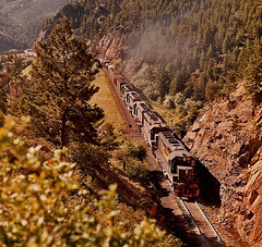 Rio Grande #183 East of Crescent, Colorado-1974. (Wheatking2011) Tags: rio grande 183 east crescent colorado tunnel 17 june 15 1974
