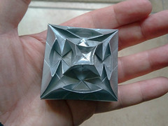 Silver box lid (Brian Ritchie) Tags: box lid origami tessellation