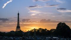 France, Paris (marina.arriva) Tags: d3000 sunset effel tower paris france sky beauty calm atmosphere background blue orange quite travel