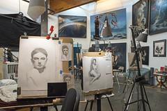 Studio Art (vtom61) Tags: artstudio drawings sonya7riii canonfd24mmf28 seattle equinoxstudios painting