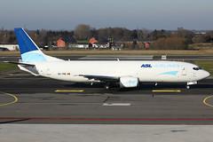 OO-TNQ 19012019 (Tristar1011) Tags: eblg lgg luik liègeairport aslairlines boeing 737400sf b734 ootnq cargo freighter