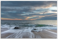 Sunrise (richpope) Tags: beach ocean sunrise waves wash sky clouds sandyhook newjersey jerseyshore nationalgeographic gatewaynationalrecreationarea
