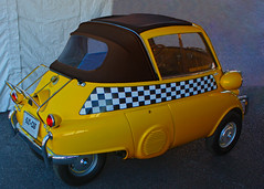Uber Hubris (oybay©) Tags: taxi taxicab bmw bmwisetta microcar bubblecar isetta weird car automobile barrettjackson scottsdale arizona green white twotone dayblo angle coolcar frontdoor interesting