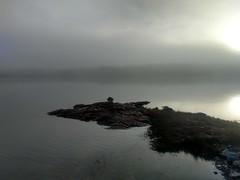 Morning fog in Maine (Brett of Binnshire) Tags: maine gouldsboro grandmarshbay fog coastalfog waterfront shoreline binnshire moody schoodicpeninsula quiet still