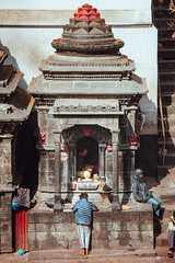 Boys at the Temple (danielhibell) Tags: kathmandu nepal travel asia discover explore world street streetphotography people religion culture ambience mood buddhism hinduism colour light praying moving special