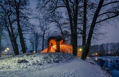🔥Fire and Ice❄ (andreasmally) Tags: lightpainting fürstenau winter blue hour snow schlossteich schlosspark germany deutschland