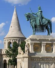 Fisherman's Bastion, Budapest (Wild Chroma) Tags: budapest hungary statue horse fisherman's bastion fisherman'sbastion