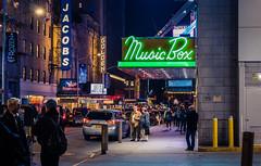 New York (KennardP) Tags: newyork newyorkcity manhattan cityatnight citylights nightlights nightphotography night canon canoneosr sigma50mmf14dghsmart sigmaartlens buildings people handheld cars city lights nyc broadway broadwayshows signs sigma