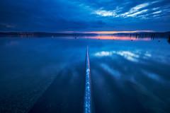 Bodensee (generalstussner) Tags: bodensee lake see spiegelung reflections sky clouds bluehour blauestunde himmel wolken wasser canon 5dmarkiv