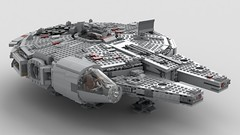 Digitally Modified Lego Millennium Falcon 2.0: Mandible Module Off Pic 2 (Evrant) Tags: lego star wars millennium falcon 75105 modified mods digital starship spaceship ship y t yt 1300 freighter evrant