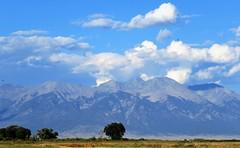 Colorado Blues (Patricia Henschen) Tags: riovegaranch blanca group mountain mountains clouds sangredecristo fence rural ranch backroad countryside summer alamosa colorado southriverroad sanluisvalley