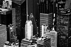 From the top (Jaime Recabal) Tags: newyork canon canon7d usa recabal blackandwhite monochrome altura edificios building