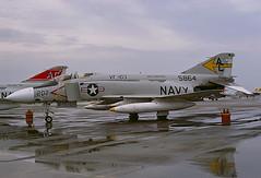 F-4J Phantom 155864 of VF-103 AC-202 (JimLeslie33) Tags: 155864 f4 f4j phantom vf vf103 ac ac202 mcdonnell douglas olympus om1 usn navy naval aviation fighter nas oceana cv60 uss saratoga cvw3 sluggers