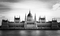 Budapest in black and white (PhotoFreakx) Tags: lumix streetphotography street city fineart winter blackandwhite bw hungary budapest parliament