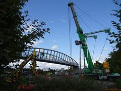 Preparing to pack away (stevenbrandist) Tags: crane birstall leicestershire leicester bridge road truck