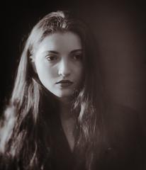 Margo (Valentyn Kolesnyk (ValeKo)) Tags: pentax people portrait petzvale mood monohrome k3 ko120m 120mm 18