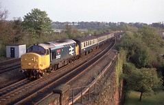 MEMORIES (Malvern Firebrand) Tags: 37427 bont y bermo approaches chester city walls thursday 4589 working 1906 rhyl cardiff largelogo 374 37xxx class37 englishelectric 37288 d6988 named loco locomotive train passenger cheshire 4track vehicles transportation 1989 br evening outdoors