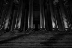 Pillars of light (Niaic) Tags: pillars column columns light dark shadow contrast blackandwhite monochrome stairs steps grand building structure architecture decorative neoclassical zeiss loxia 2821