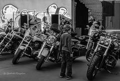 Men's interest (Lyutik966) Tags: bike motorcycle street scene moscow equipment transport people man child yard artplay custombike festival russia bwartaward