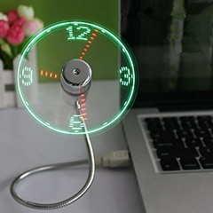 Amazing USB LED Clock With Fan And Real Time Display (mywowstuff) Tags: gifts gadgets cool family friends funny shopping men women kids home