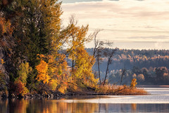 tullingesjön (anderswetterstam) Tags: fall lake landscape nature seasons water autumn coloful beauty trees yellow orange changes reflections sky clouds