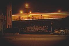 ([gegendasgrau]) Tags: graffiti vandalism vandalismus spraypaint urbanart streetstyle urban urbanlife urbandecay decay trainspotting eisenbahn railway railroad train zug trainstation bahnhof railroadstation railwaystation sign architecture architektur gebäude building streetlife street photography fotografie explore mood moody ambiance atmo atmosphere atmosphäre feeling flavour documentation dokumentation reportage lifestyle umwelt environment wetter weather stimming beautiful wall mural nacht night nachtfotografie nightphotography nightshot darkness dunkelheit lowlight light licht nrw ruhrpott ruhrgebiet ruhryork infrastructure infrastruktur catenary car auto parking vignette