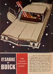 It's Gift-Wrapped for Good! (saltycotton) Tags: automobile car travel buick generalmotors gm lesabre holidays christmas readersdigest vintage magazine advertisement ad 1962 1960s