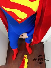 [原创篇] (紧身英雄战士) Tags: lycra fetish dc hero zentai superman spandex superhero comic cosplay