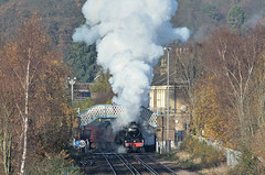Chertsey Steam (ianmartian) Tags: stanier black5 44871 1z51 cathedrals express special wcrc class47 47746 chertsey