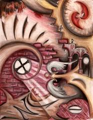 Regarding Love (Skyler Brown Art) Tags: angel art artwork coloredpencil drawing entertainment fantasy heart heartbreak love paper red surreal surrealism skylerbrown