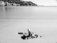 I'm scared of swimming in the sea (.KiLTRo.) Tags: kiltro it italy italia rapallo liguria coast shore beach sea ocean longexposure water rocks city town