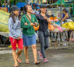 Hey You ! (Beegee49) Tags: street women girl girls filipina your young crossing market smiling pointing happyplanet favourites sony a6000 silay city philippines asia