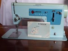 vintage Singer 347 (Elisabeth patchwork) Tags: sewingmachine vintage heritage singer 347 aqua nähmaschine singer347