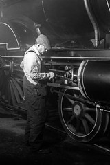 Oiling (alanrharris53) Tags: barrowhill steam train engine roundhouse shed workers