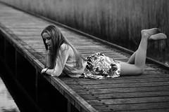 0163 (boeddhaken) Tags: longhair blond dreamwoman beautifulwoman woman sexywoman cutegirl lovelygirl dreamgirl beautifulgirl girl sexygirl hetzwin zwin nature natureparc tree bridge longbridge laydown