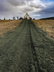 The church in the field 1 (Peter Shergold) Tags: 45mm autumn hasselblad sussex x1d church idsworth building copyrightpetershergold