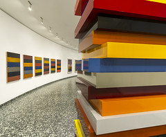Stack Colors by Sean Scully (jtgfoto) Tags: approved seanscully artwork art museum washingtondc washington hirshhorn rokinon12mm sonyimages sonyalpha installation stackcolors