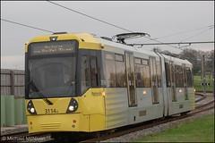 Manchester Metrolink 3114 (Mike McNiven) Tags: manchester metrolink tram metro lightrail lrv manchesterairport airport shadowmossroad shadowmoss victoria marketstreet