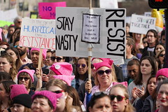 Woman's March 2019 (Lynn Friedman) Tags: crowd sign nadty resist pinkpussyhat womansmarch politics gender equality resistance sanfrancisco california usa 94102
