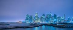 Manhattan, Piers (IronBokeh) Tags: newyork ny nyc newyorkcity cityscape nightscape blue pier water skyscrapers buildings skyline brooklyn manhattan